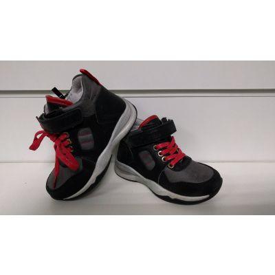 Ботинки P298 черно-красные ТМ Clibee