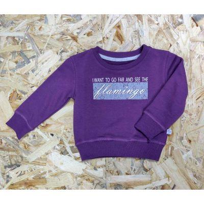 Джемпер для девочки 817-321 фиолетовый ТМ Фламинго, Украина