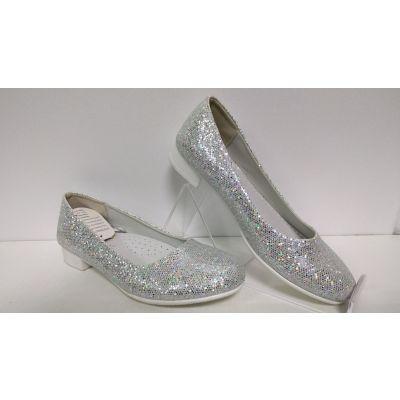 Туфли нарядные для девочки D87 серебро