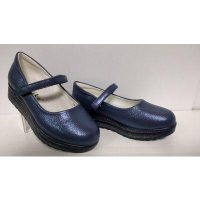 Туфли нарядные для девочки blue Yalkie A2-83