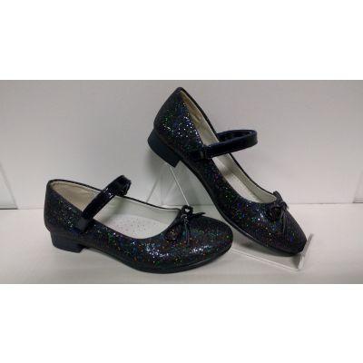 Туфли нарядные для девочки синий графит D87 Clibee