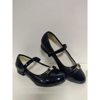Туфли нарядные для девочки синие D523 Clibee