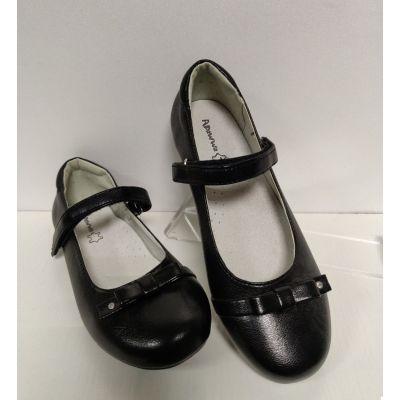 Туфли для девочки черные Р107-1 Apawwa