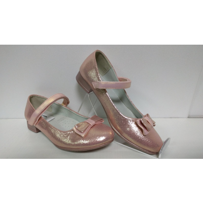 Туфли нарядные дл девочки розовые D-86 ТМ Clibee, Польша