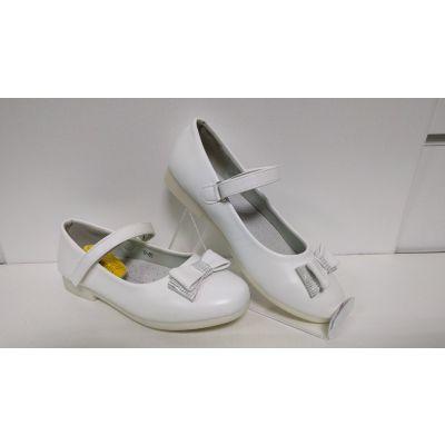 Туфли нарядные для девочки белые D85 ТМ Clibee