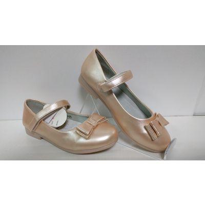 Туфли нарядные для девочки персиковые D-85 ТМ Clibee