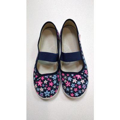 Туфли текстильные Вероника цветочки 274 ТМ Waldi
