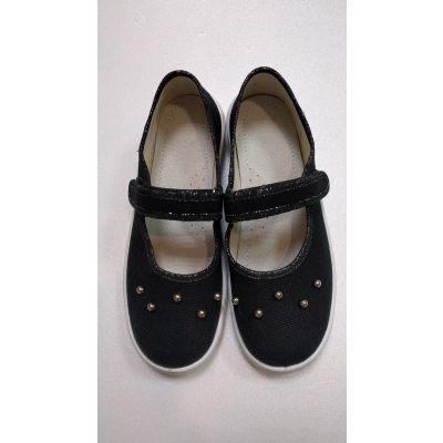 Туфли текстильные Алина 321-757 черные ТМ Waldi