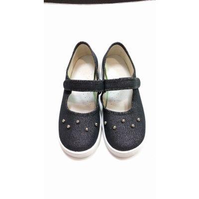 Туфли текстильные жемчуг черные 358-757 ТМ Waldi