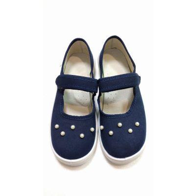 Туфли текстильные жемчуг синие 200-757 ТМ Waldi