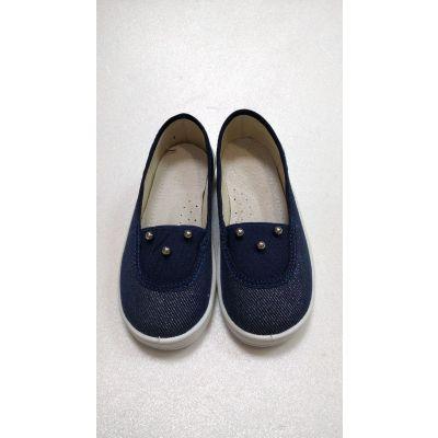 Туфли текстильные Алиса Перлинка синие 377-783 ТМ Waldi