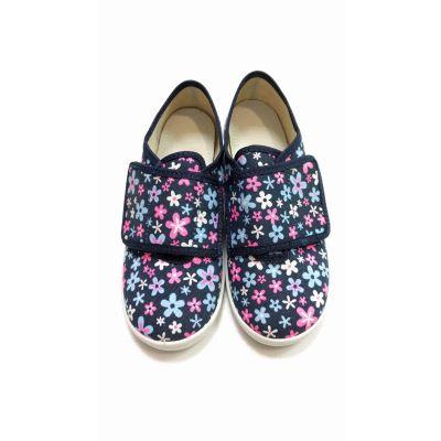 Туфли текстильные цветы Настя ТМ Waldi