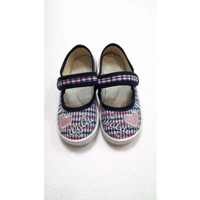 Туфли текстильные Алина LOVE сине-роз 850169 ТМ Waldi