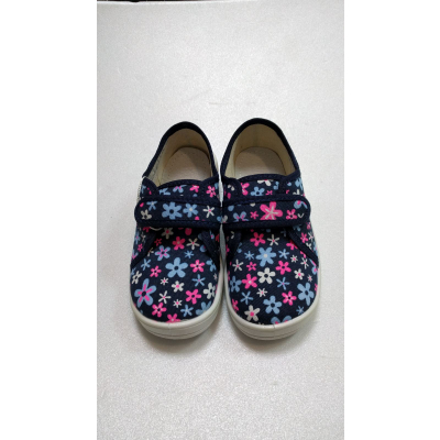 Туфли текстильные Саша сині квіти 274-492 ТМ Waldi