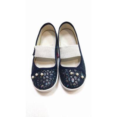 Туфли текстильные Вероника синие Перлинки 333-783 ТМ Waldi
