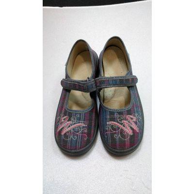 Туфли текстильные сердце Алина ТМ Waldi