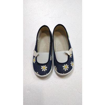Туфли текстильные джинс ромашки Алиса ТМ Waldi