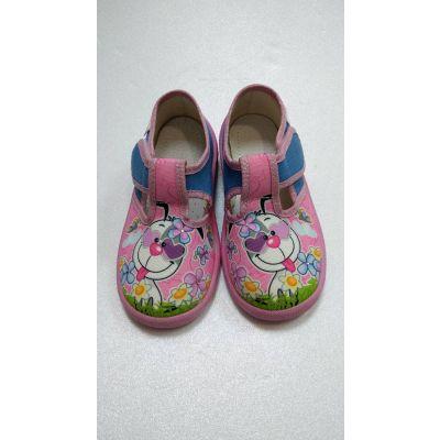 Туфли текстильные Даша зайчик розовые ТМ Waldi
