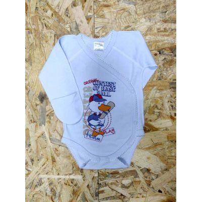 Боди - распашонка для мальчика 19507 голубой ТМ Garden Baby