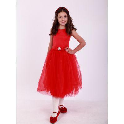 Нарядное бальное платье для девочки 9704 красное