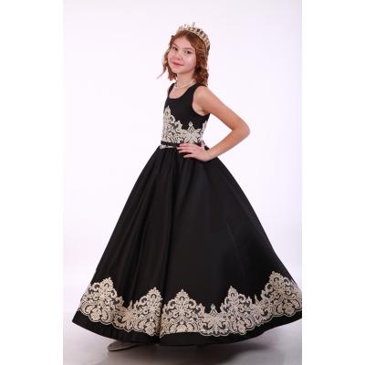Нарядное платье для девочки 9732/1 черное