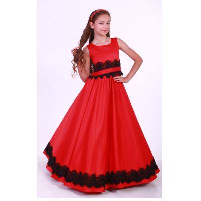 Нарядное бальное платье для девочки 9731 красное