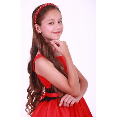 Обруч для девочки красное сияние ТМ Sonechko