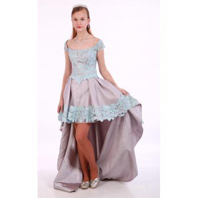 Нарядное платье для девочки Мирабелла подросток серое