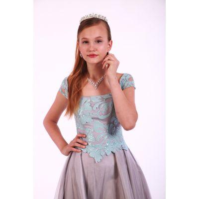 Корона-обруч для девочки Роскошь серебра