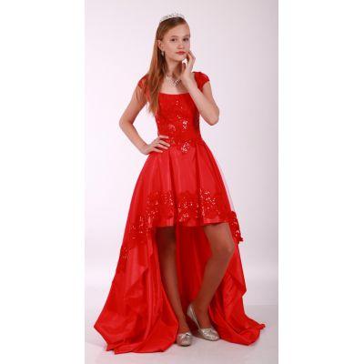 Нарядное платье для девочки Мирабелла красное
