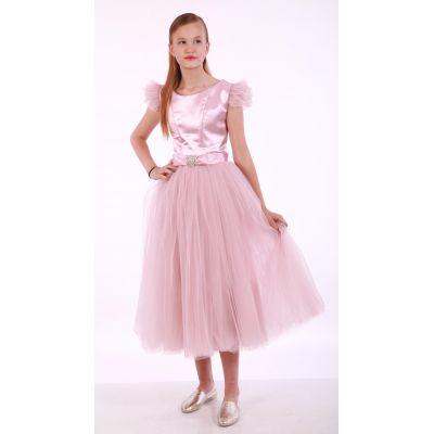 Нарядное платье для девочки 9704 с рукавчиками