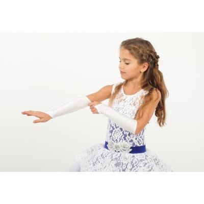 Перчатки бальные для девочки белые ТМ Sonechko