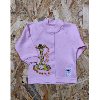 Кофточка для девочки Жирафик розовая