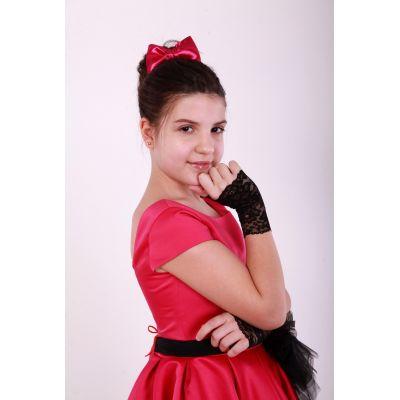 Перчатки - митенки детские Марина №1 черные