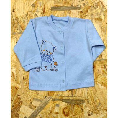 Кофточка для новорожденного 9-024 голубая