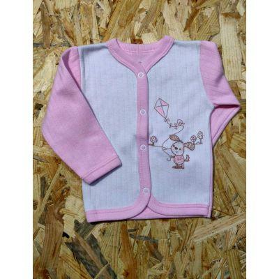 Кофта с начесом для девочки 91-01 розовая