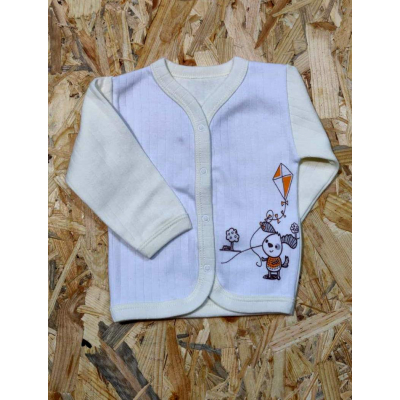 Кофта с начесом для малыша 91-01 желтая