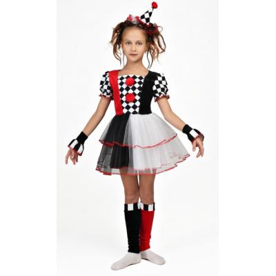 Карнавальный костюм для девочки Подружка Джокера, Арлекин №5