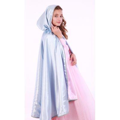 Карнавальный костюм для девочки Накидка Герда (розово-голубая)