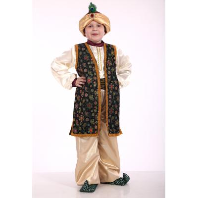 Карнавальный костюм для мальчика Мудрец Султан изумруд