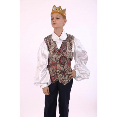 Карнавальный костюм для мальчика Принц в жилете