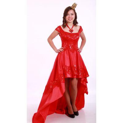 Карнавальный костюм для девочки Красная Королева подросток
