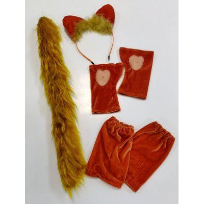 Карнавальный костюм - набор Рыжая Кошка (ушки, хвост и лапки)
