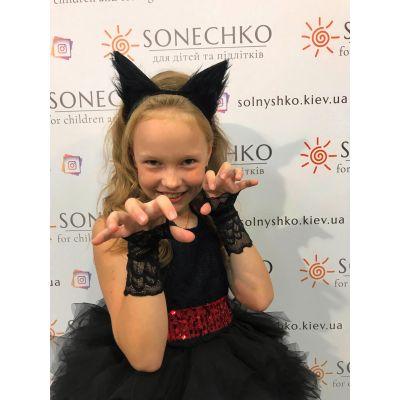 Карнавальный костюм для девочки Кошка черная