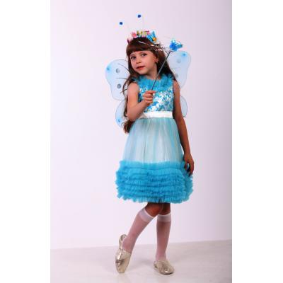 Карнавальный костюм для девочки Бабочка бирюза