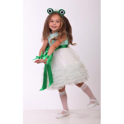 Карнавальный костюм для девочки Лягушка - Жабка бант