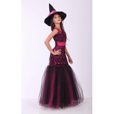 Карнавальный костюм для девочки Ведьма гламур подросток