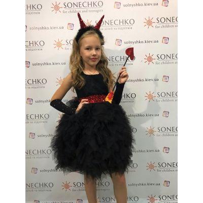 Карнавальный костюм для девочки Чертовка блеск