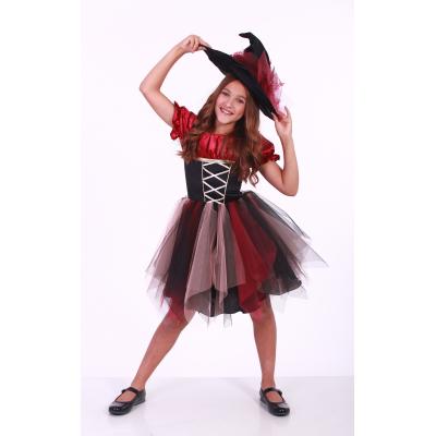 Карнавальный костюм для девочки Ведьмочка - Ведьма Класс