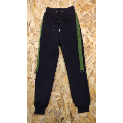 """Спортивные брюки для мальчика """"Антонио"""" черные+хаки ТМ ALFONSO"""